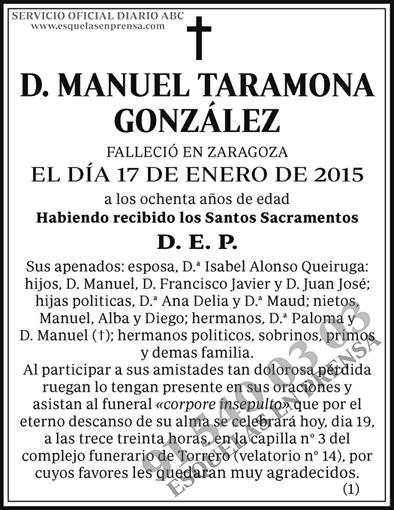 Manuel Taramona González